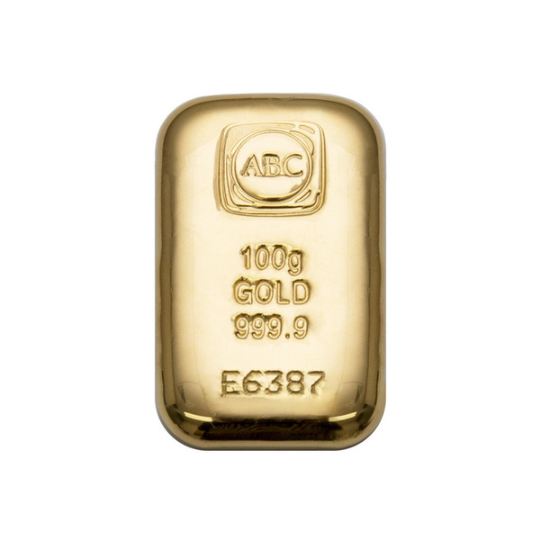 The LBMA ABC Bullion 100g gold cast bar is serialised and comes with an assay certificate, guaranteeing metal weight, purity and origin.