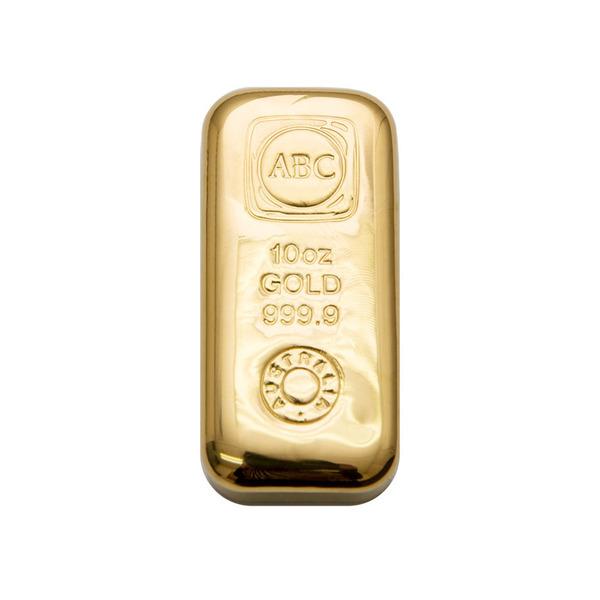 10oz ABC Bullion Cast Bar Gold