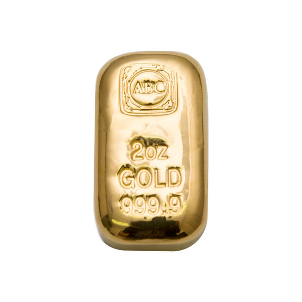 2oz ABC Bullion Cast Bar Gold
