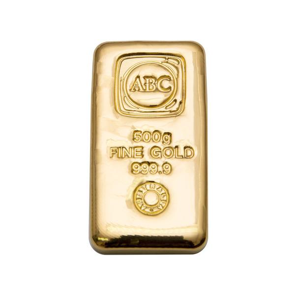 500g ABC Bullion Cast Bar Gold
