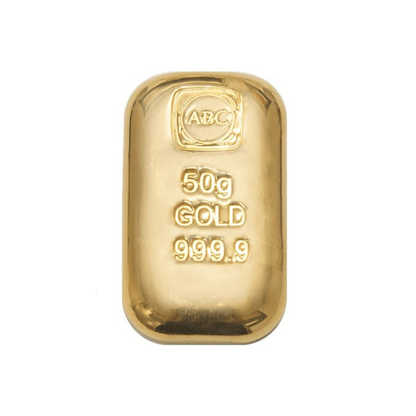 The LBMA  ABC Bullion 50g gold cast bar is the latest addition to the ABC Bullion cast bar range.