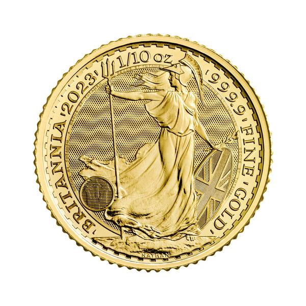 1/10oz  2021 The Royal Mint Britannia Gold 99.99% Coin