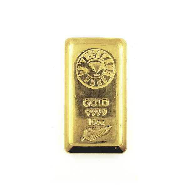 10oz NZ Pure Gold Cast Bar