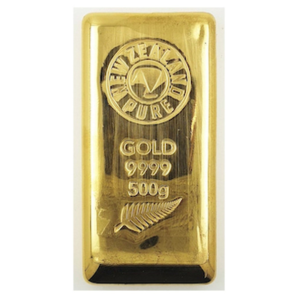 NZ Pure 500gm Pure Gold Bar