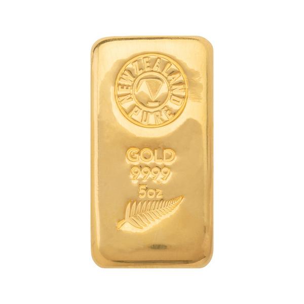5oz NZ Pure Gold Cast Bar