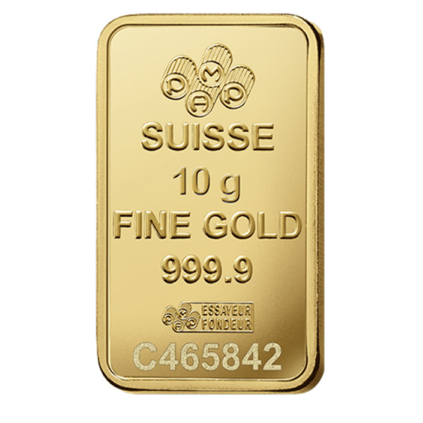 10g PAMP Suisse Minted Bar Gold 99.99%