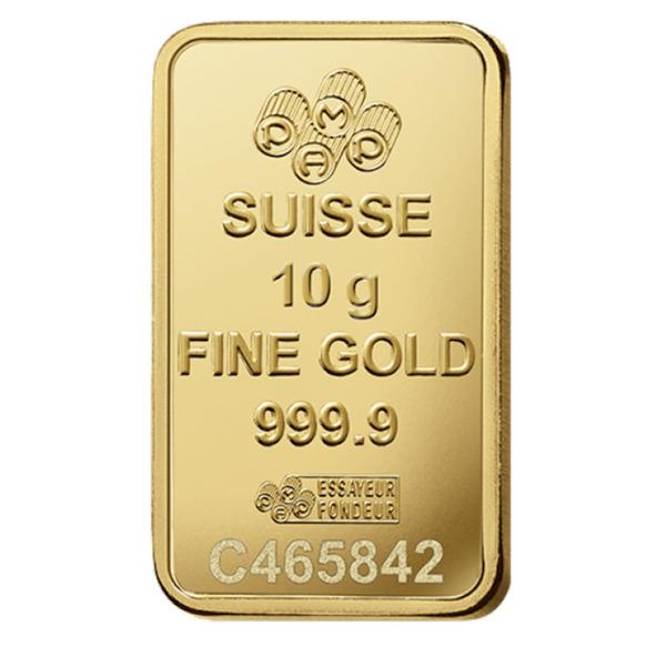 PAMP 10 Gm Gold Minted Bar