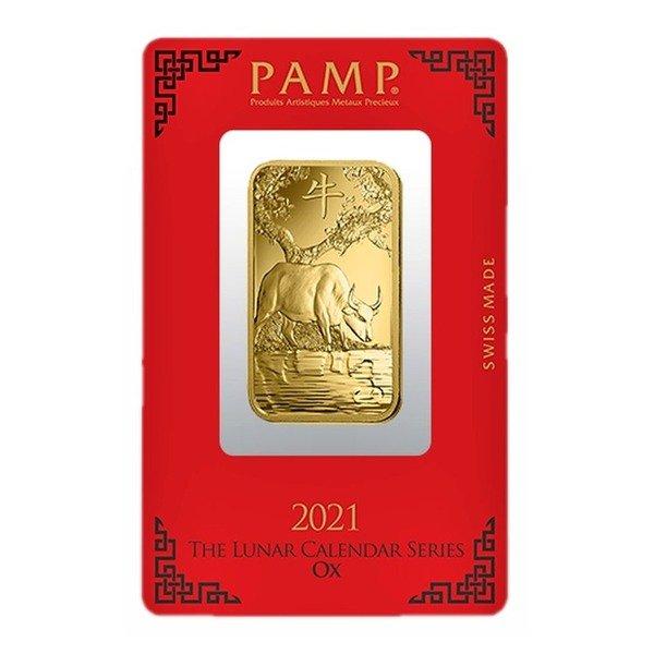 1oz PAMP Minted Lunar Ox 999.9