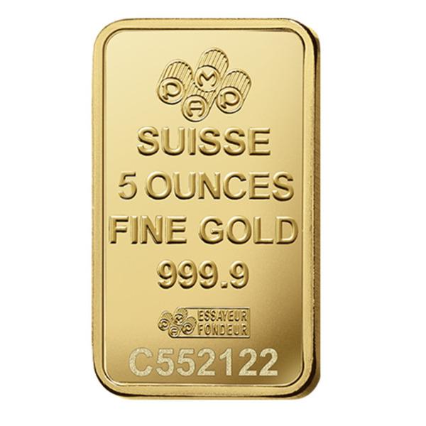 5oz PAMP Minted Bar Gold