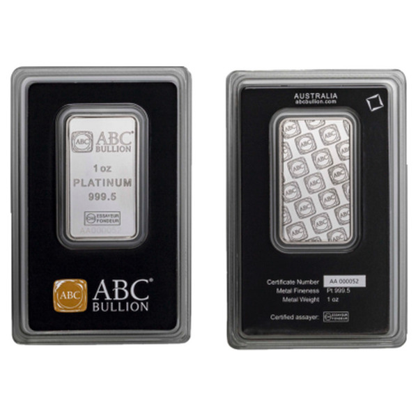 1oz ABC Bullion Platinum Minted Bar