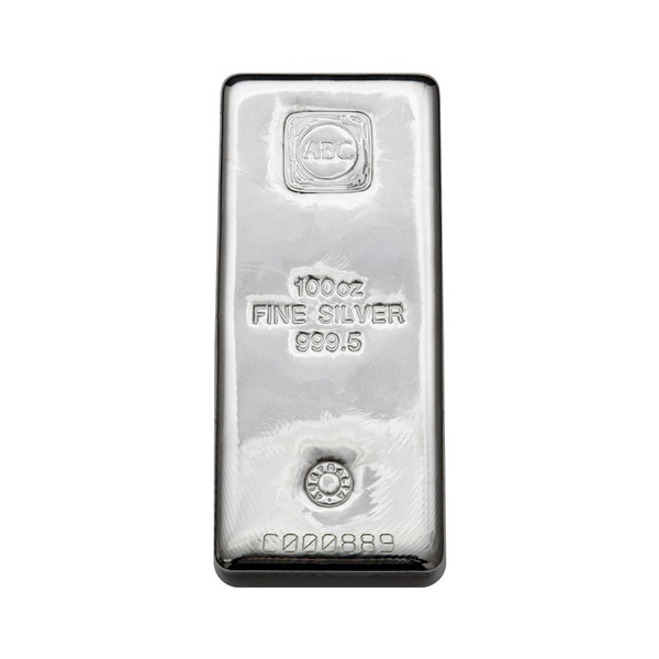 100oz ABC Bullion Cast Bar Silver