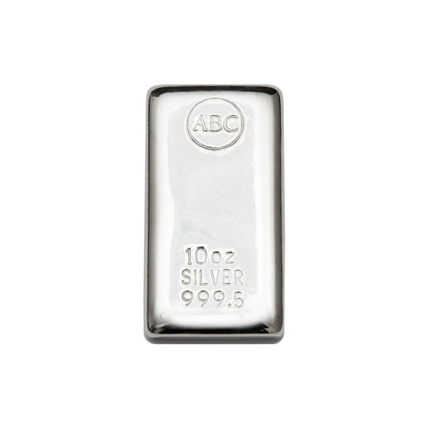 10oz ABC Bullion Cast Bar Silver
