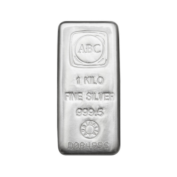 1000g ABC Bullion Cast Bar Silver