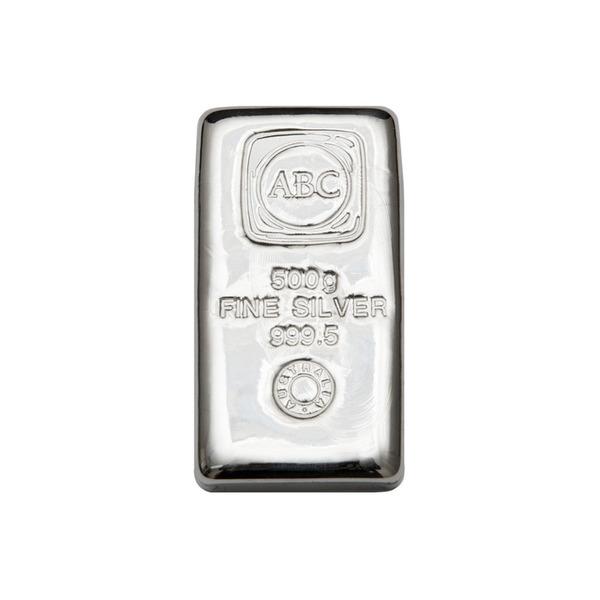 500g ABC Bullion Cast Bar Silver