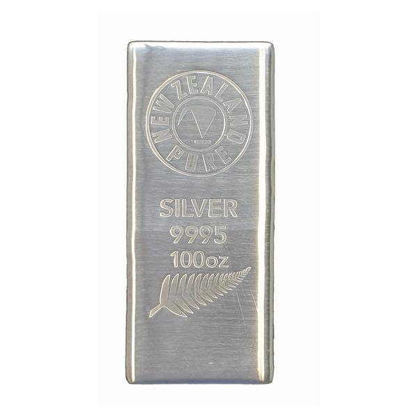 100oz NZ Pure Silver Bar.
