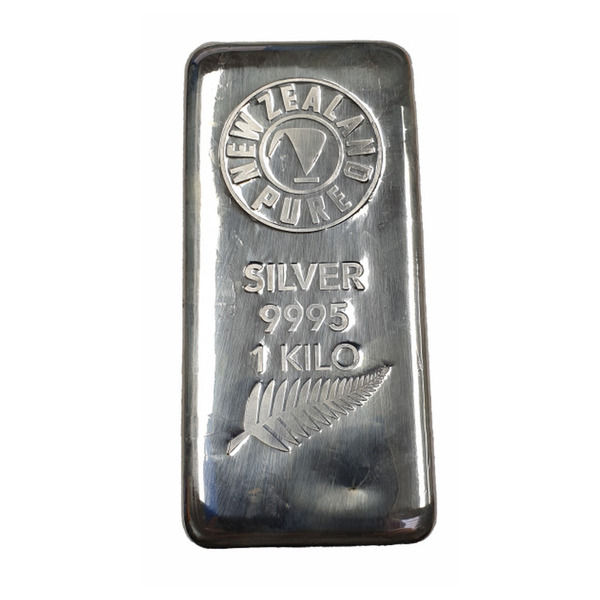 NZ Pure 1Kg Silver Cast Bar 99.95% Pure