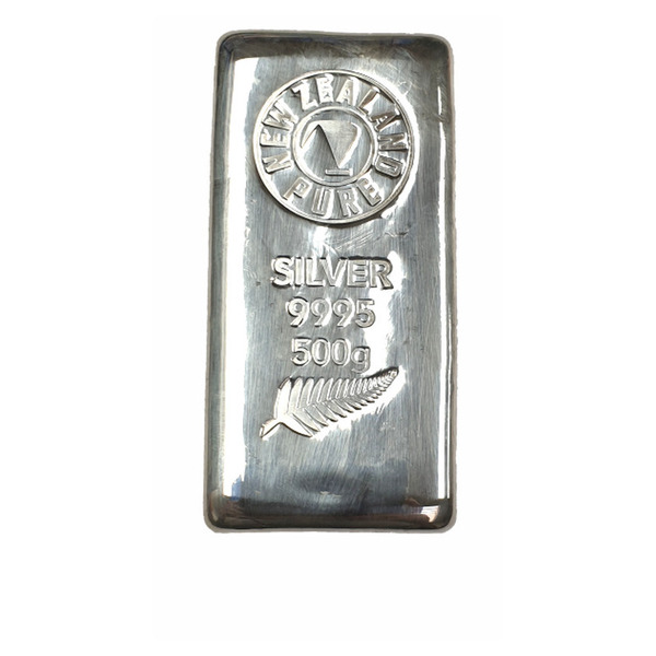 NZ Pure 500 g Silver Cast Bar