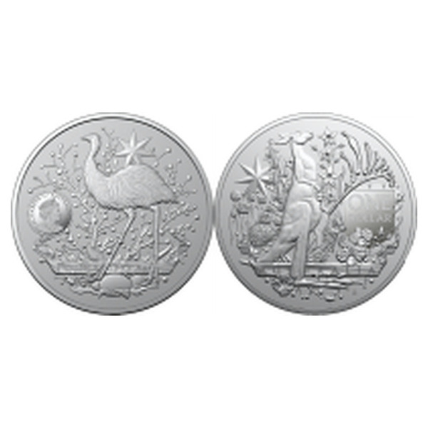 1oz Royal Australian Mint Coat Of Arms Minted Silver Coin